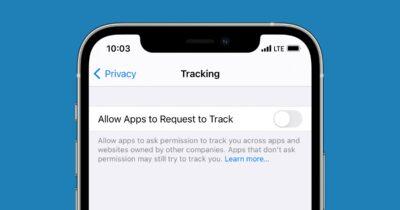iOS 14 app tracking toggle