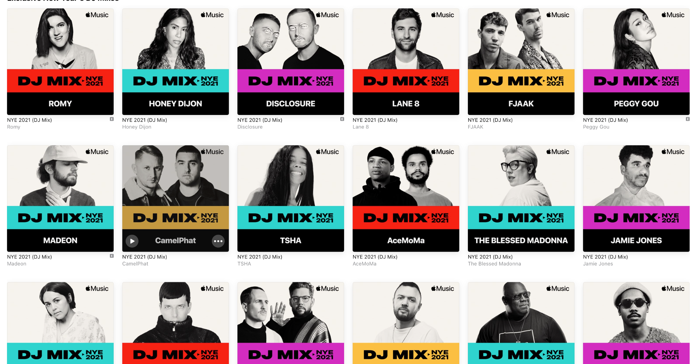 Apple Music Has Exclusive NYE Mixes to Help You See in 2021