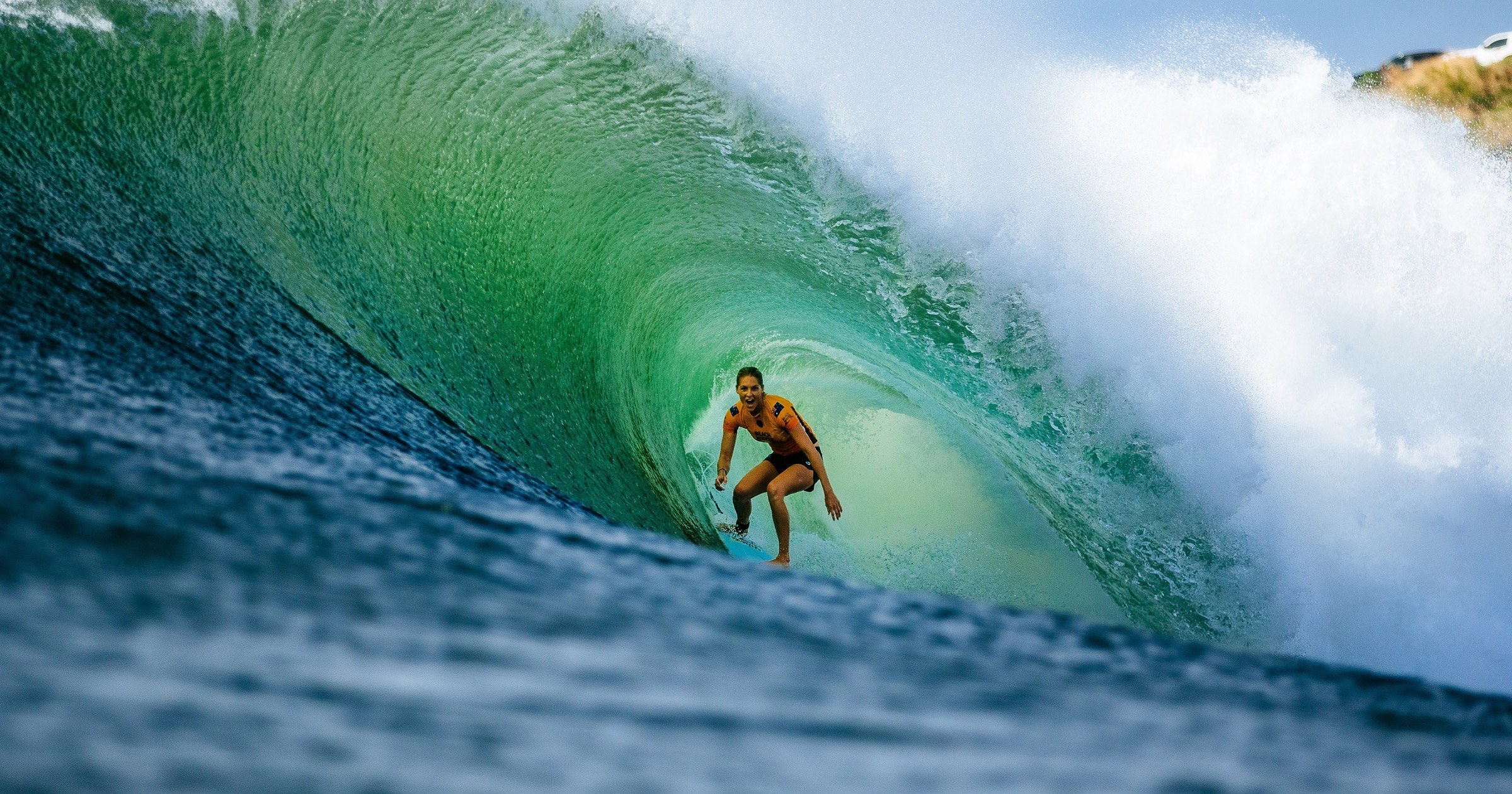 A surfer in the Apple world surf league docuseries