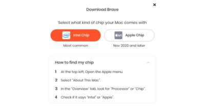 Brave M1 Mac