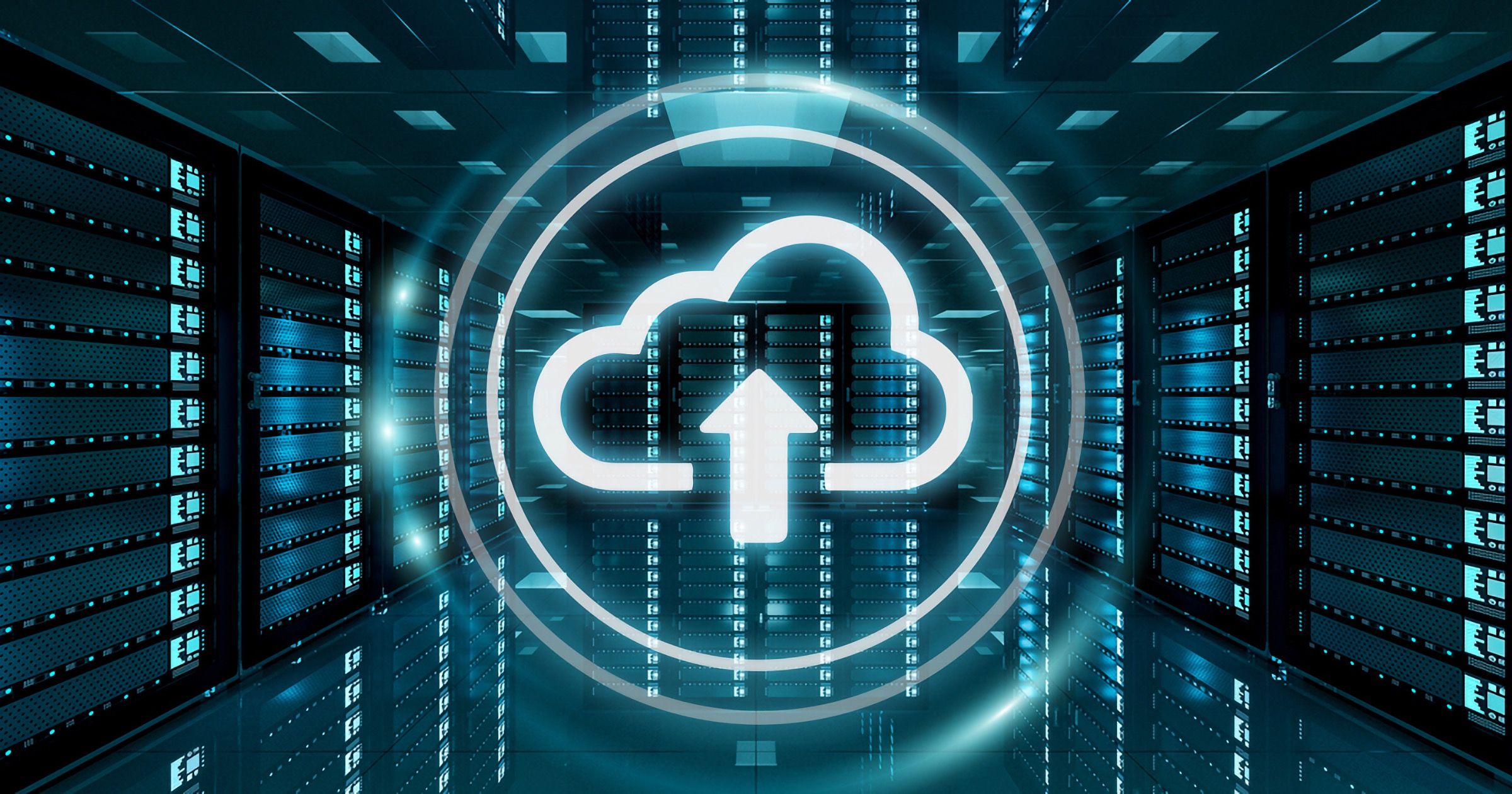 Cloud storage Icon in a data center