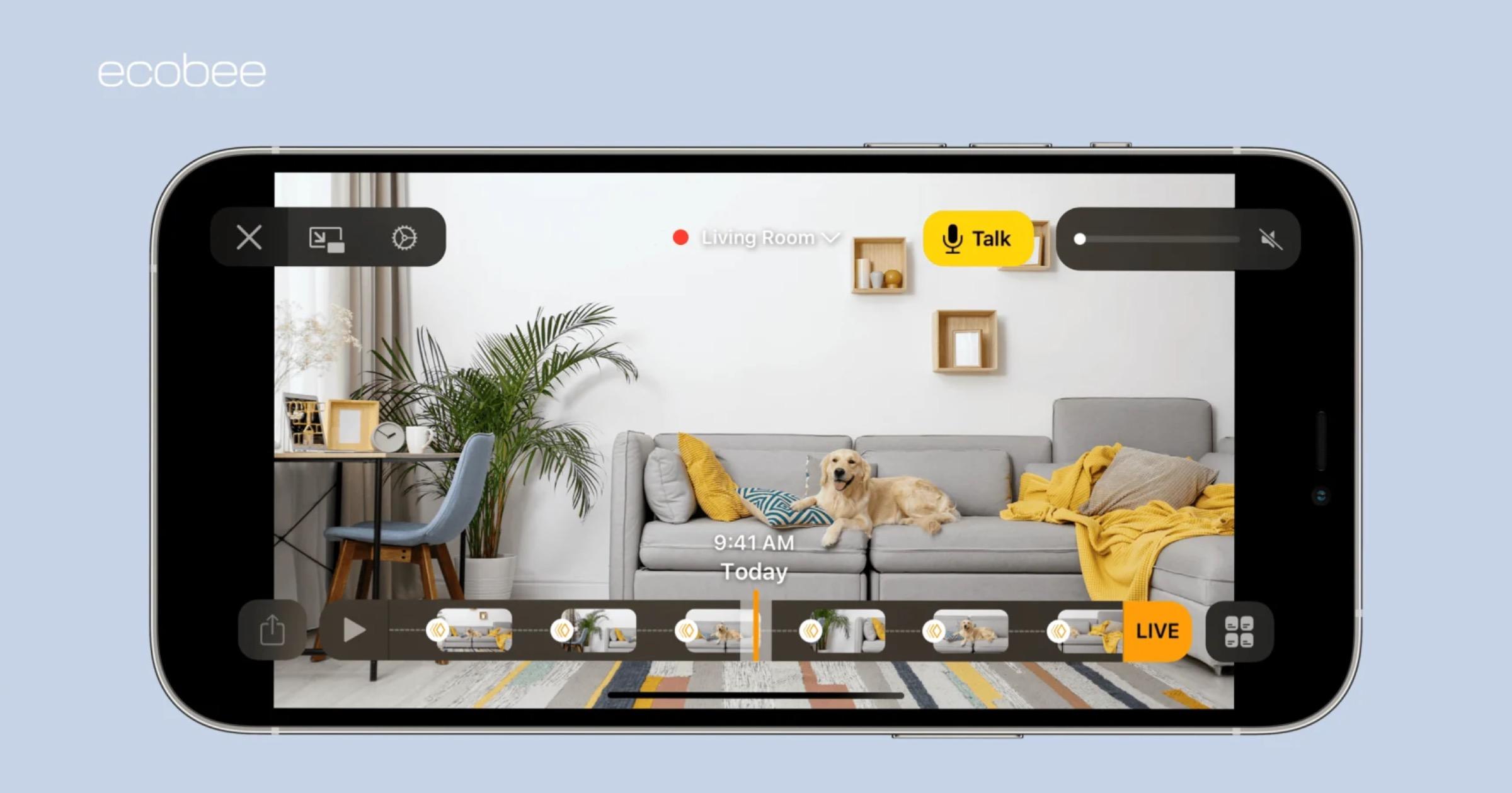 Ecobee SmartCamera usage in the home app