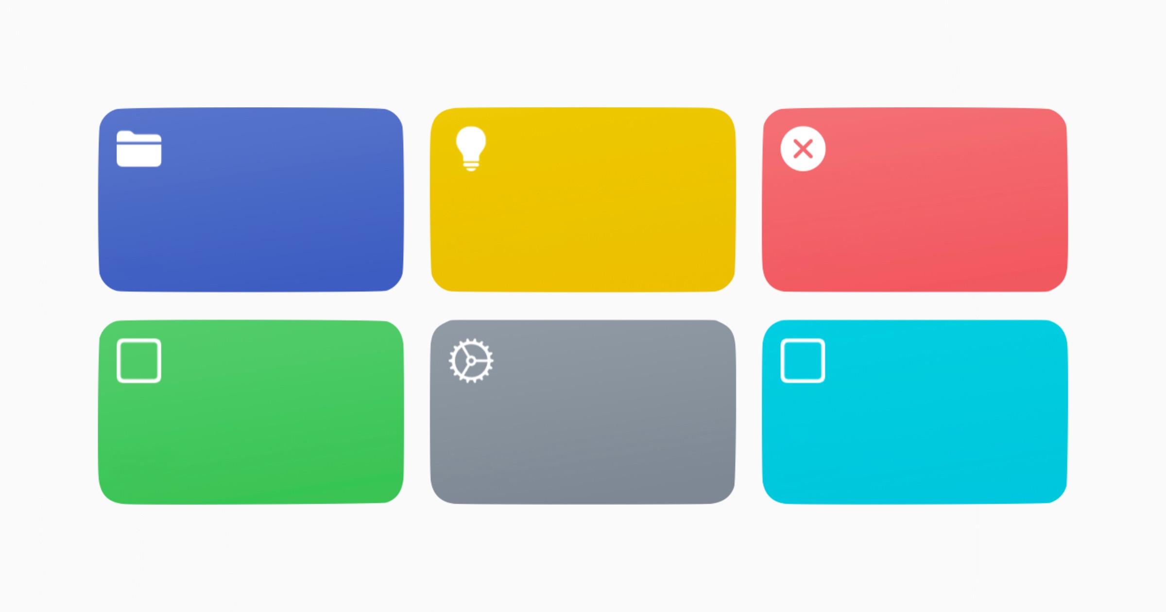 Generic shortcut icons