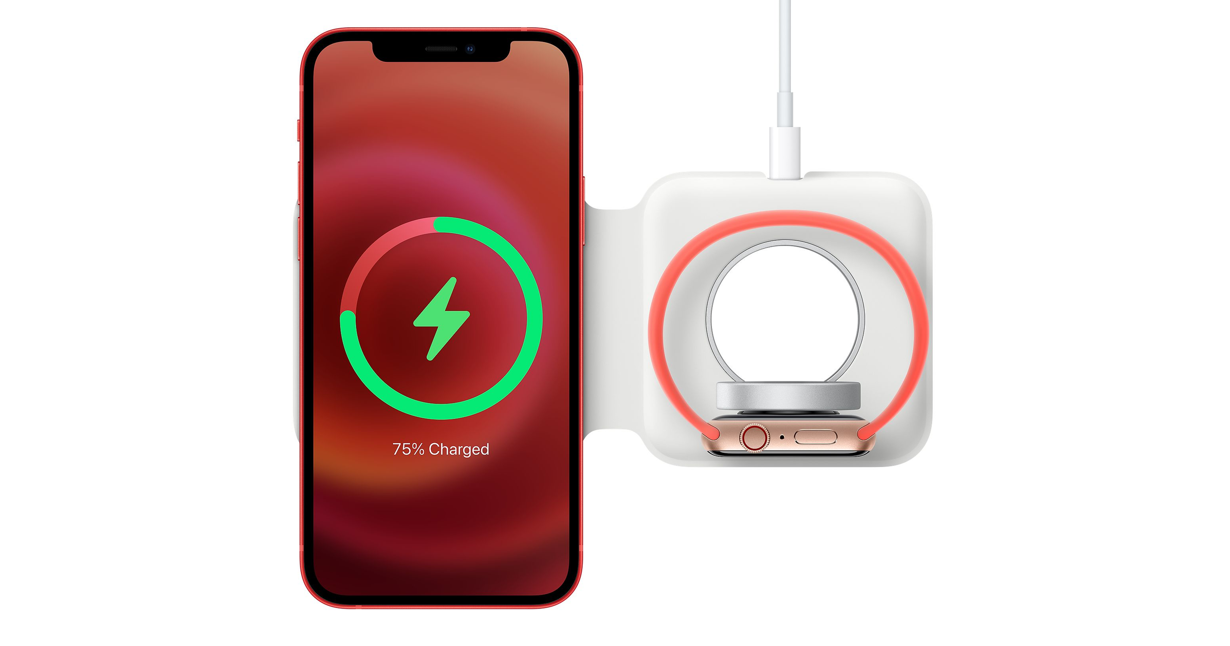 MagSafe Duo with iPhone 12 and Apple Watch