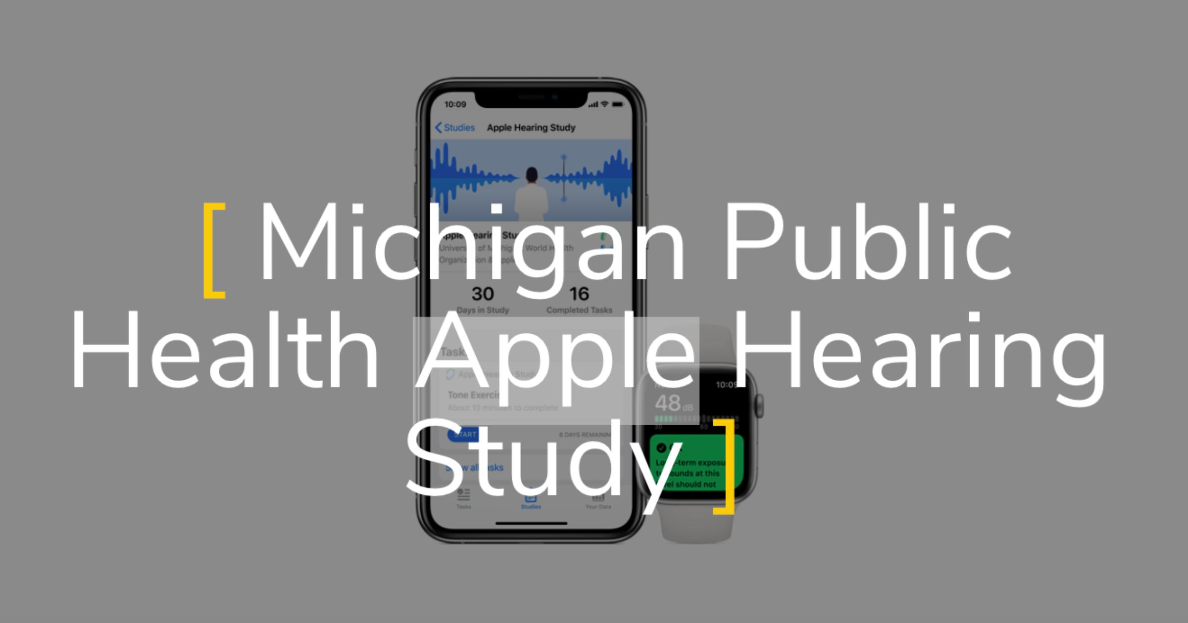 Michigan Public Health Apple Hearing Study