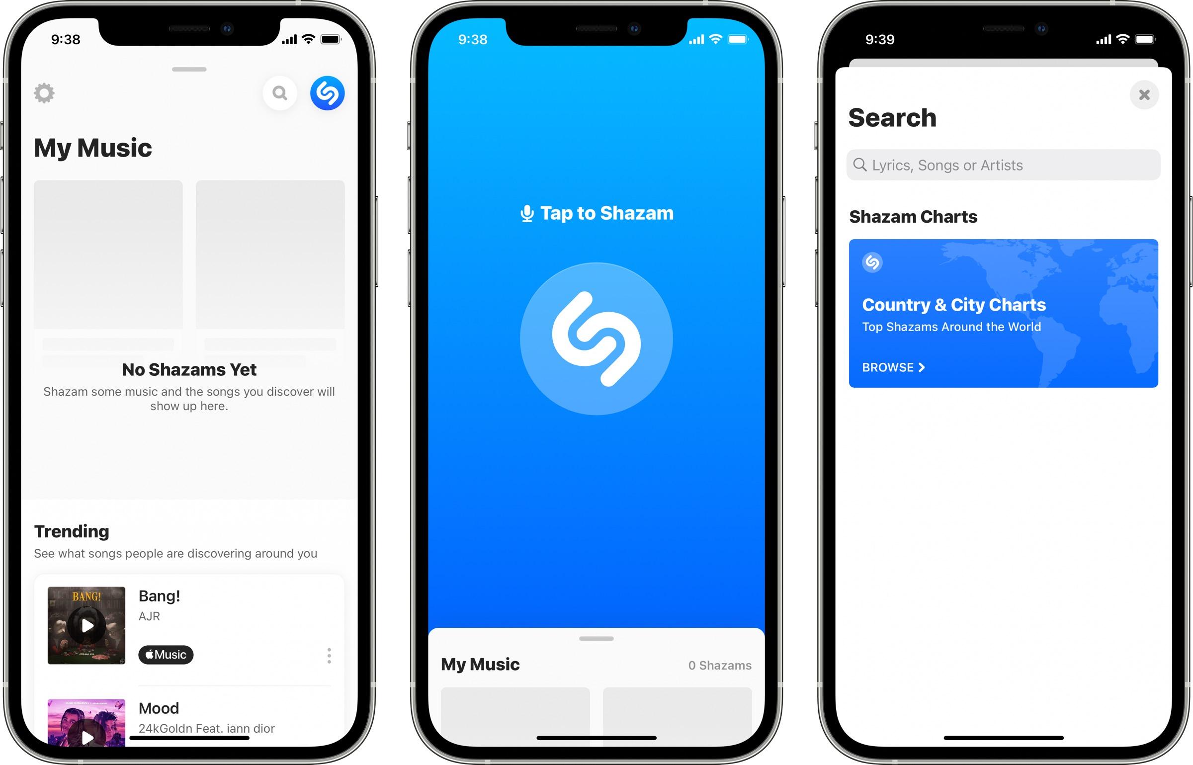 New Shazam interface