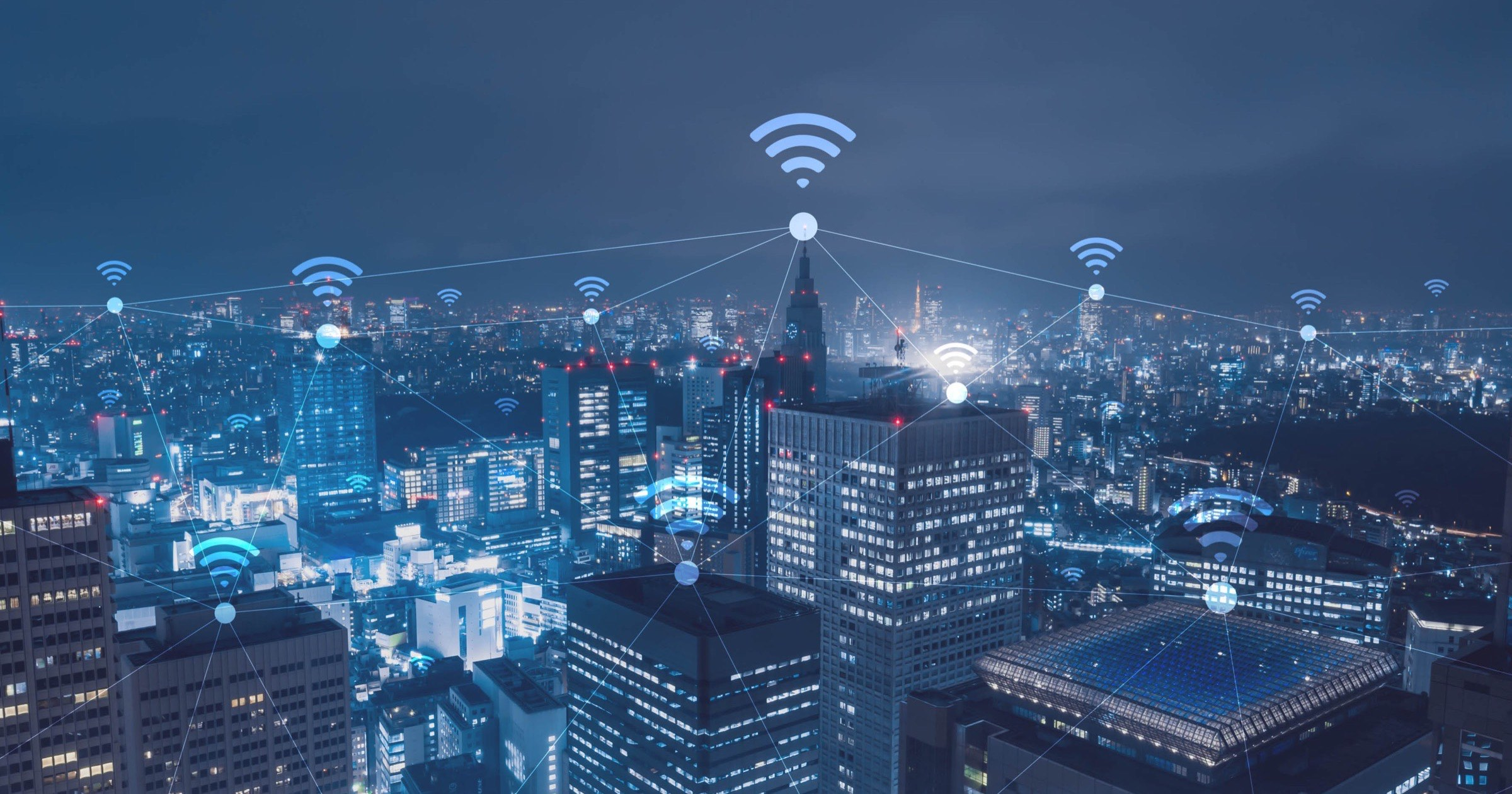 Wi-Fi connections in a city