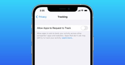 App tracking transparency setting