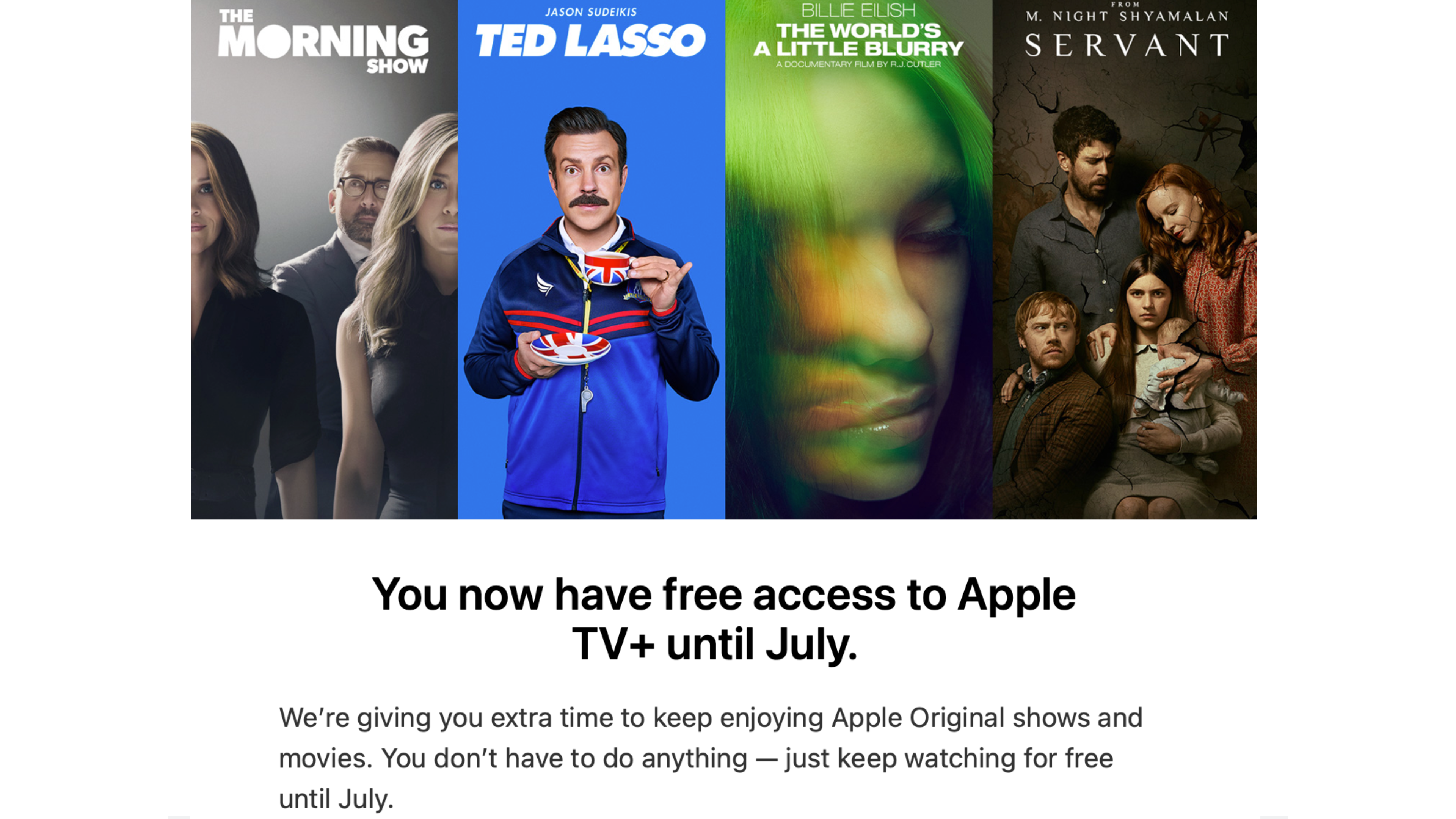 Apple TV+ Free extension July