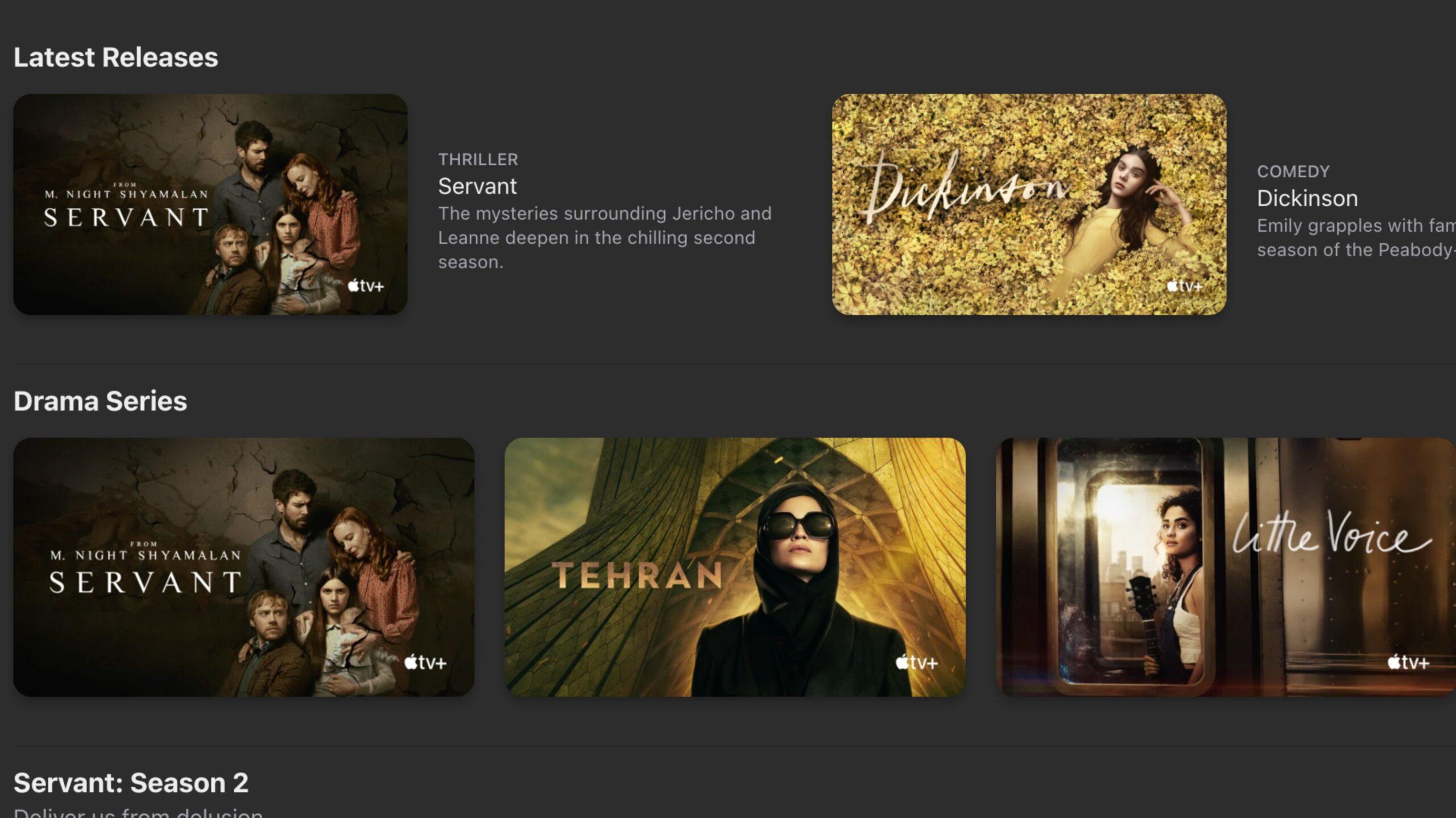 Updated Apple TV+ Web app