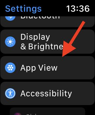 Apple Watch List View App View