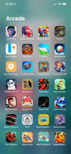 The Arcade folder in my iPhone's App Library.