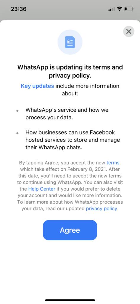 WhatsApp Warning iOS
