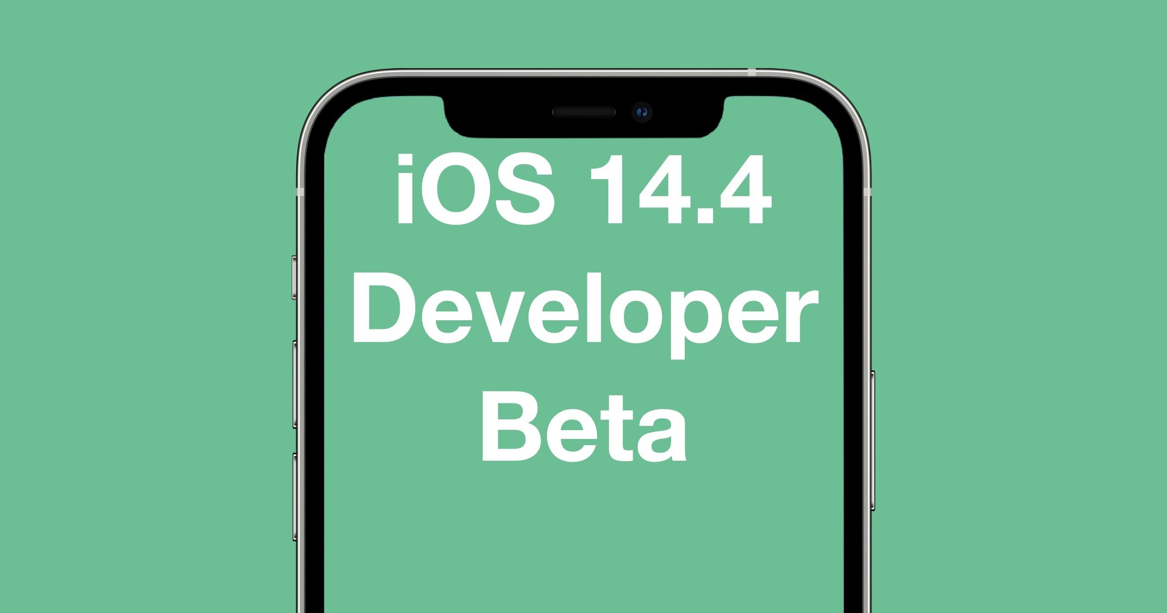 iOS 14.4 developer beta