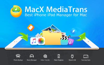 MacX MediaTrans Splash Screen from January, 2021