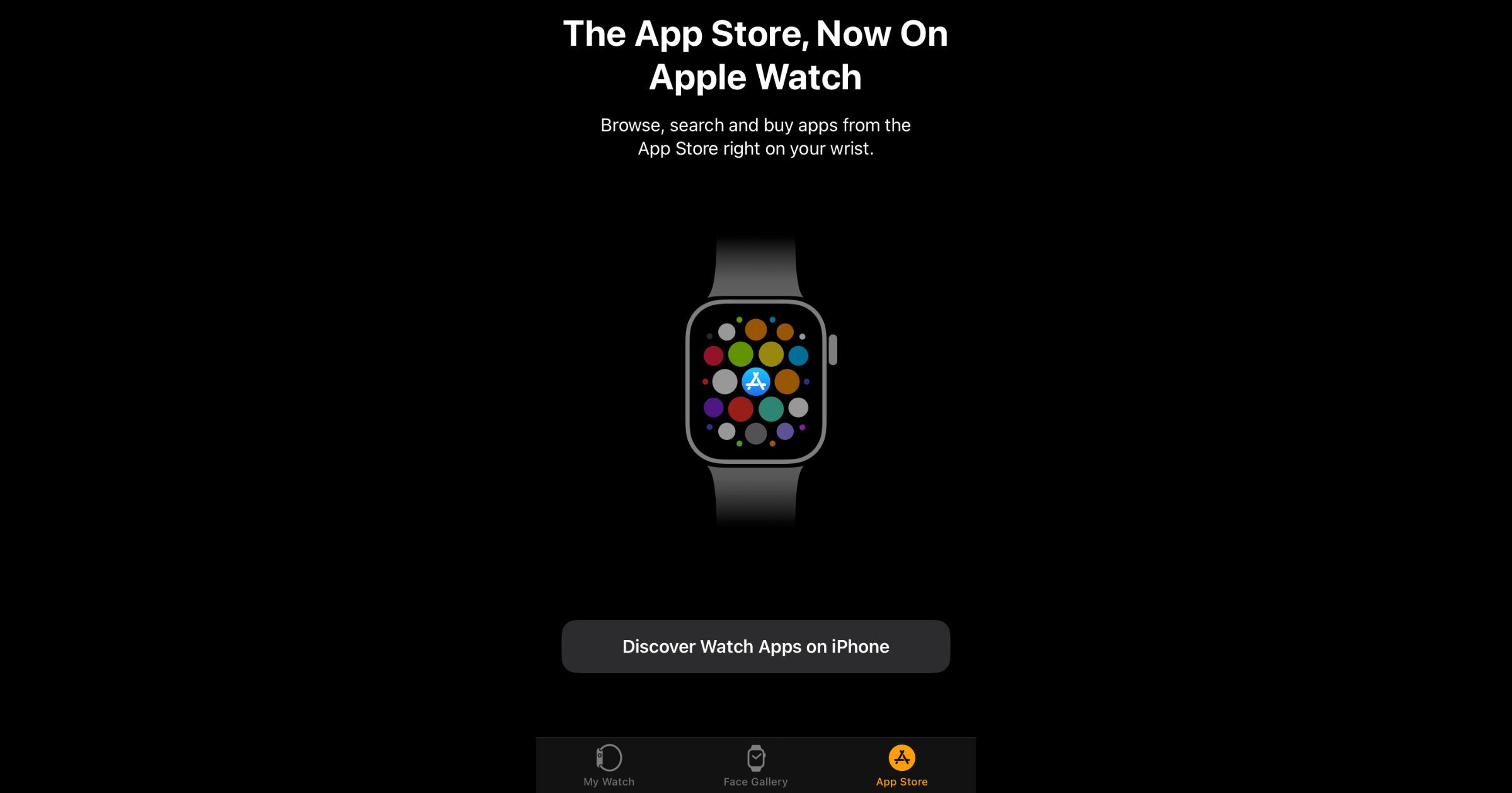Apple Watch App Store Tab