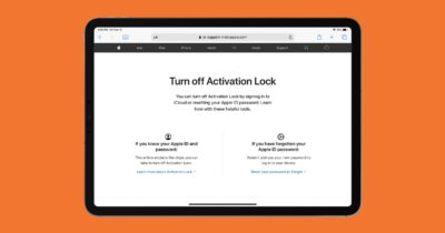 Apple activation lock page