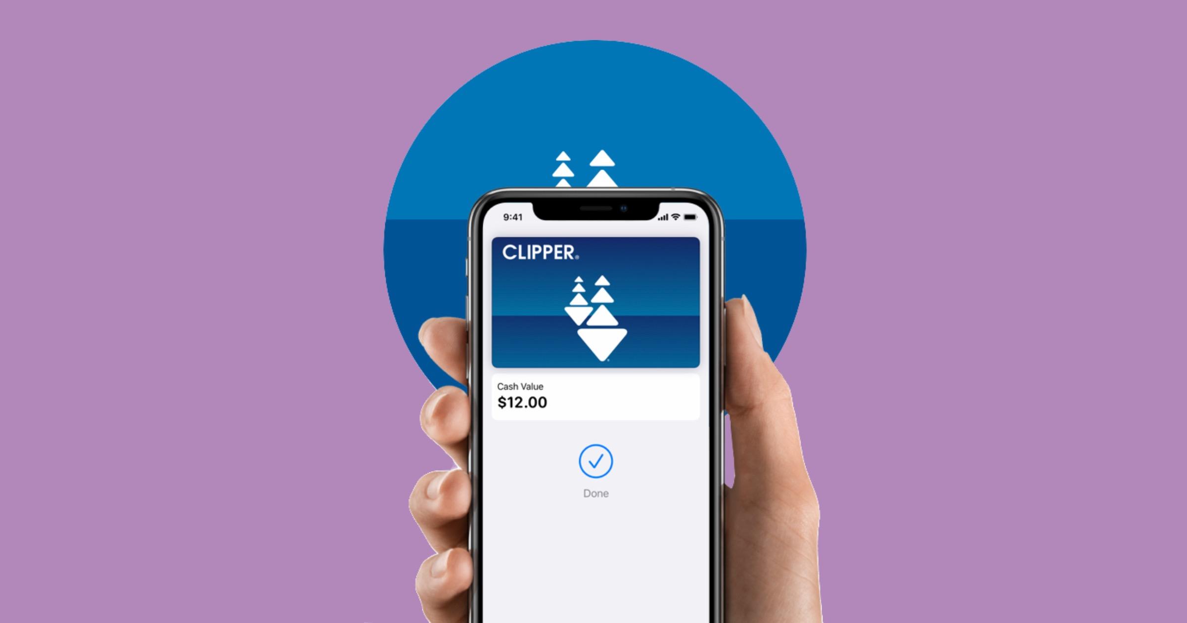 Clipper card in Apple Wallet