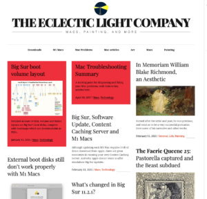 There's much to explore at The Eclectic Light Company.