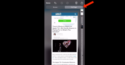 Take a full page screenshot and Save as a PDF in Safari