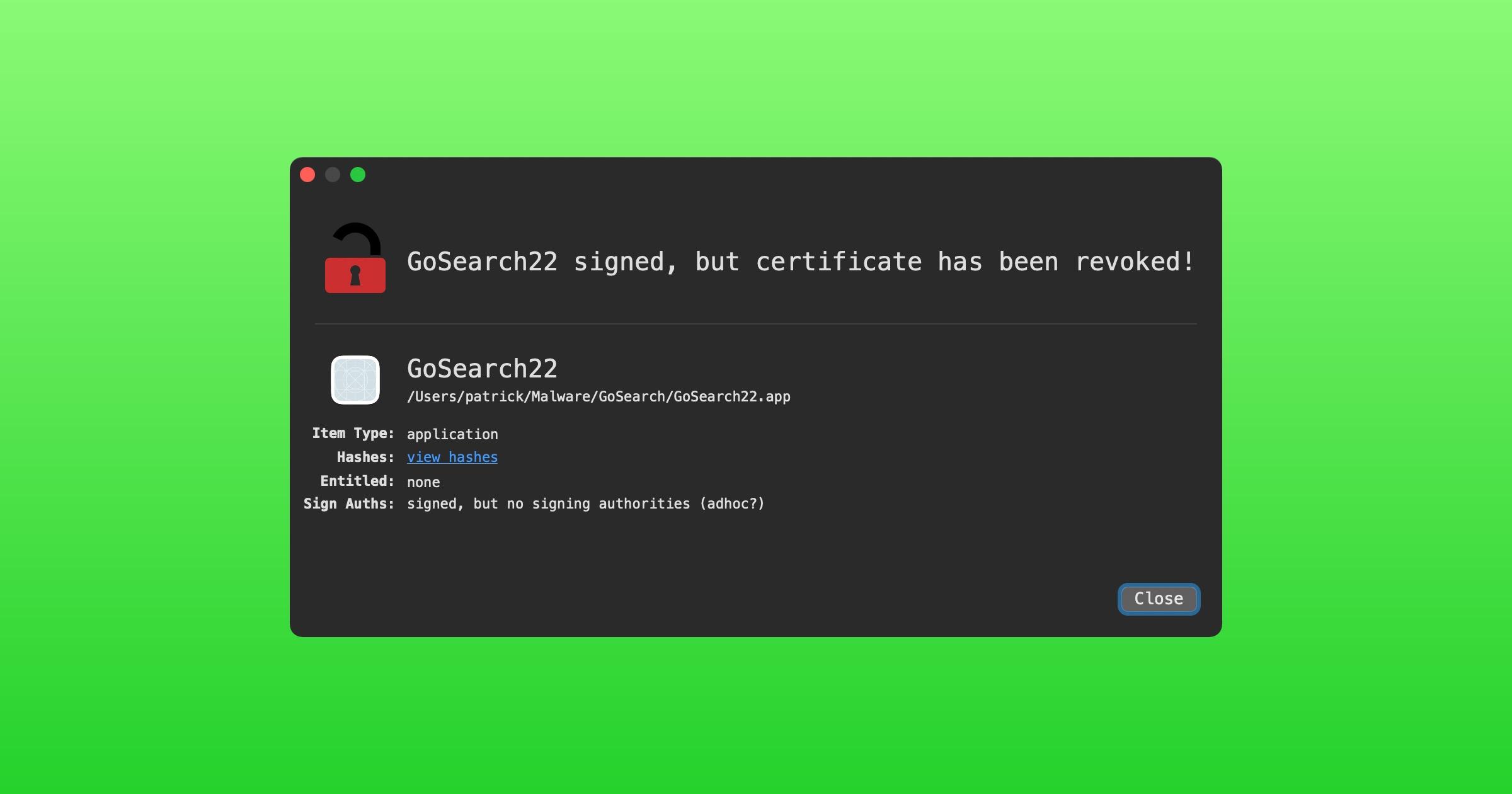 GoSearch22 detection in Lulu