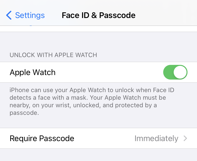 Apple Watch iPhone unlock