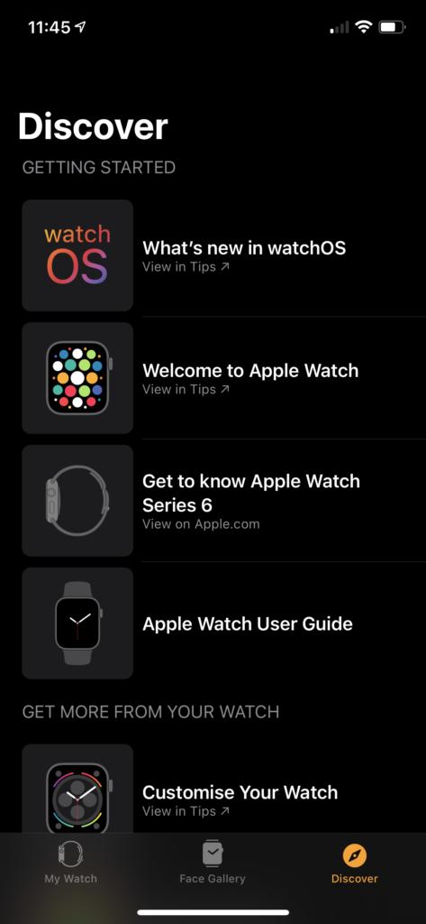 Watch App in iOS 14.4