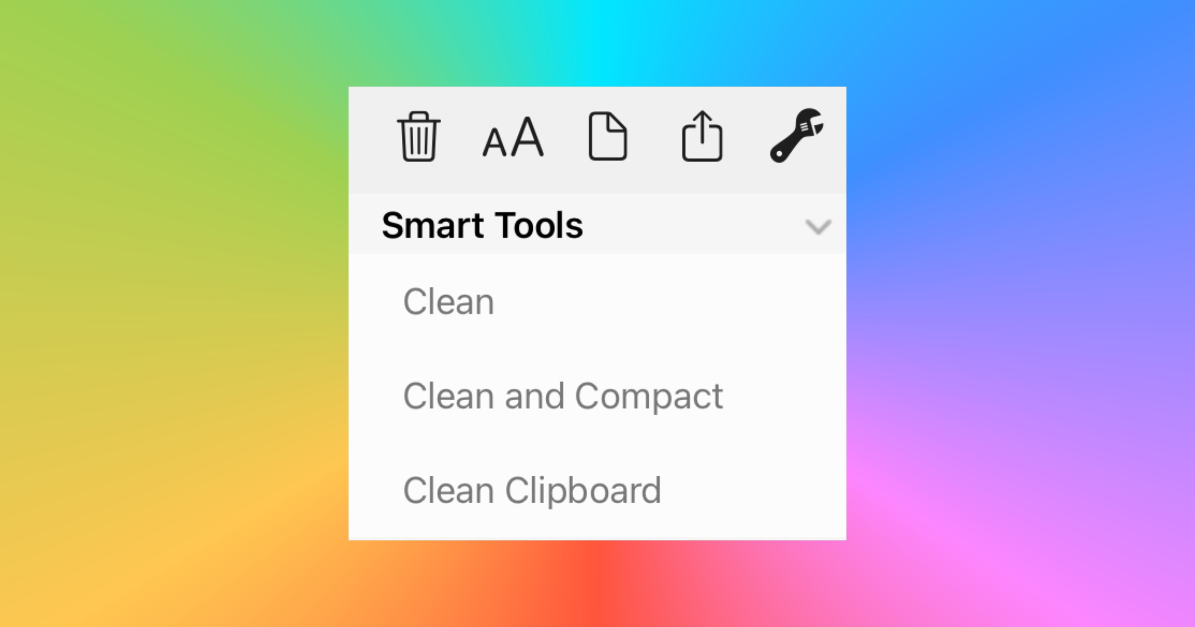 'Clean Text' From ApiMac is the Closest Tool to TextEdit for iOS