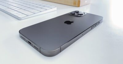 iPhone 12 Pro Max next to Apple Magic Keyboard