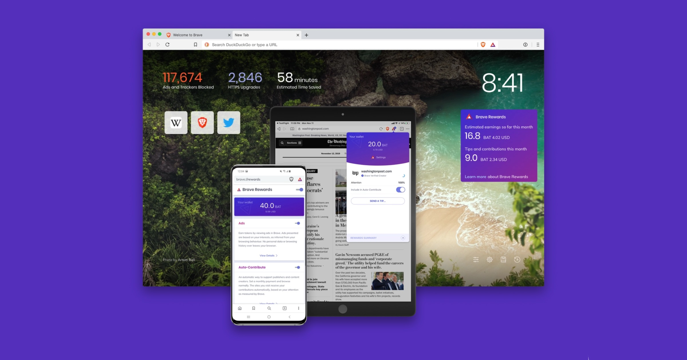 Brave search engine preview
