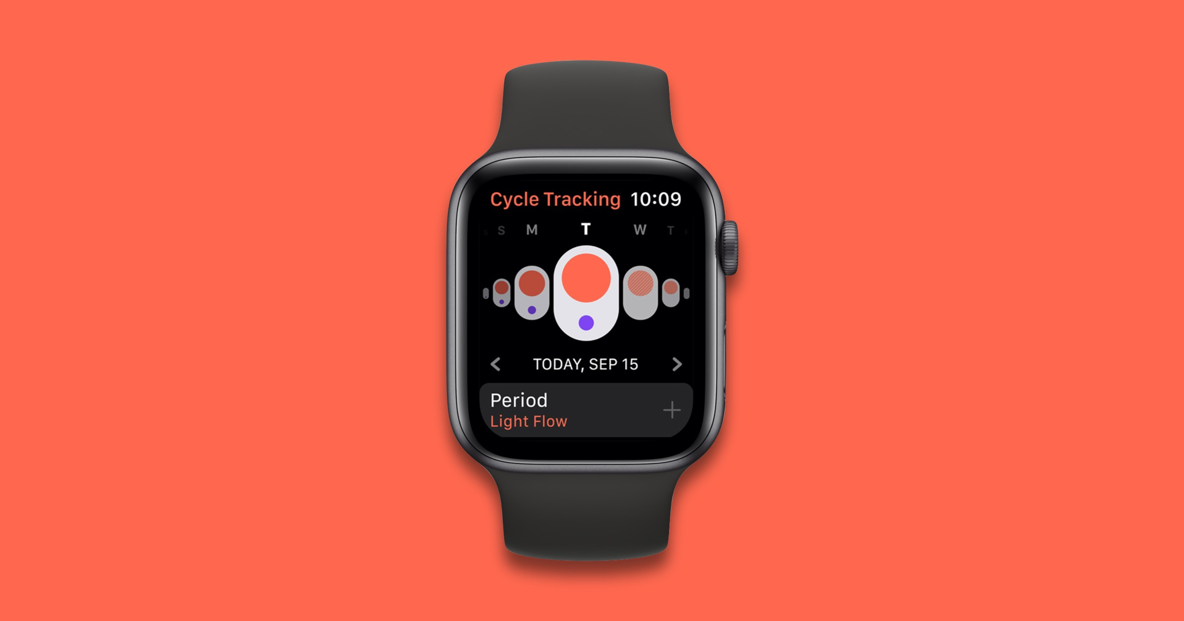 Cycle tracking on Apple Watch