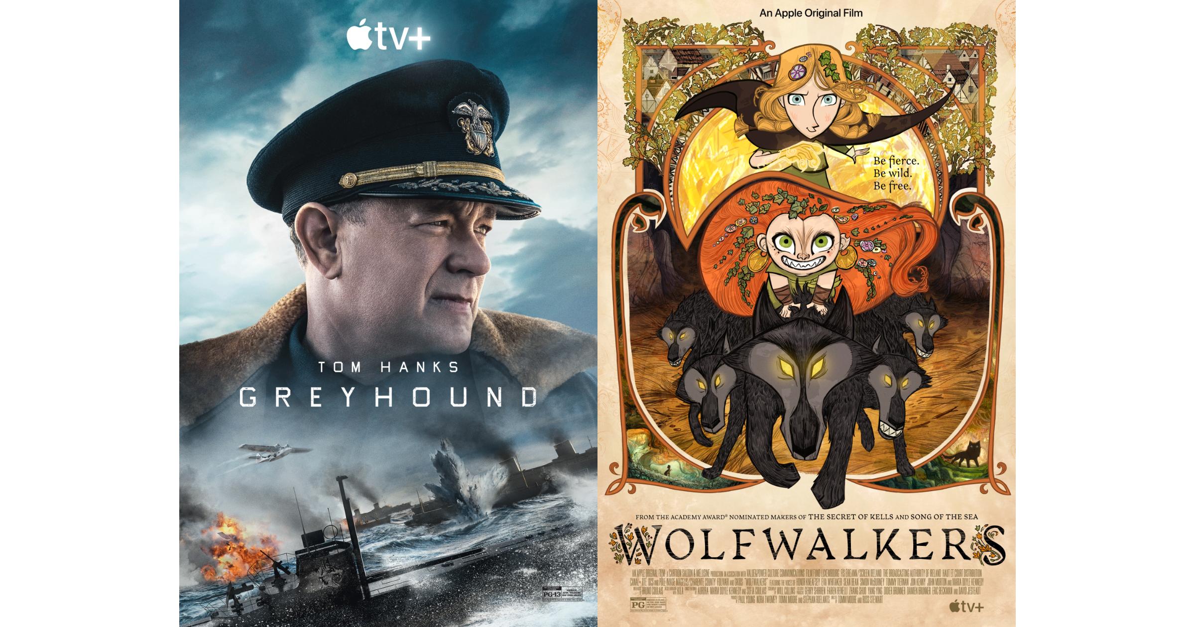 Greyhound Wolfwalkers Apple TV+ Oscars