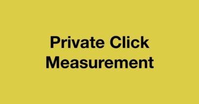 Private click measurement