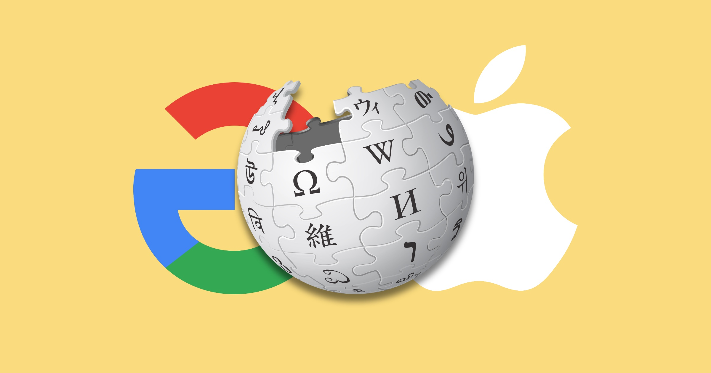 Wikipedia google apple logos