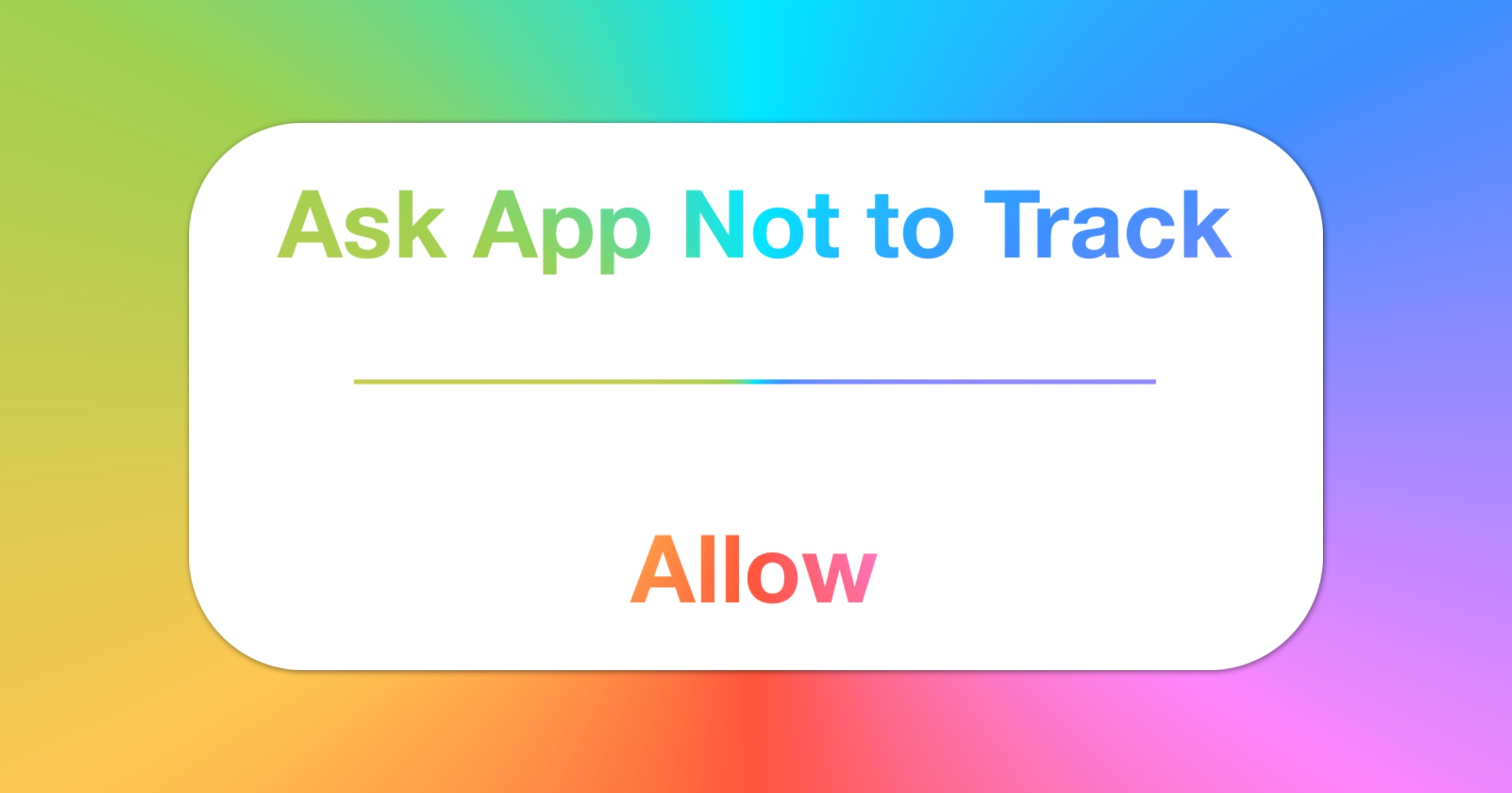 App tracking transparency in iOS 14.5
