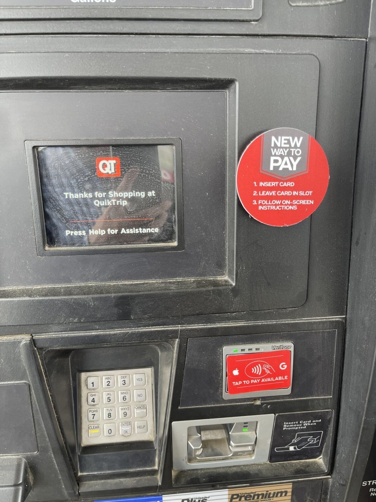 Apple Pay support at QuikTrip gas pump
