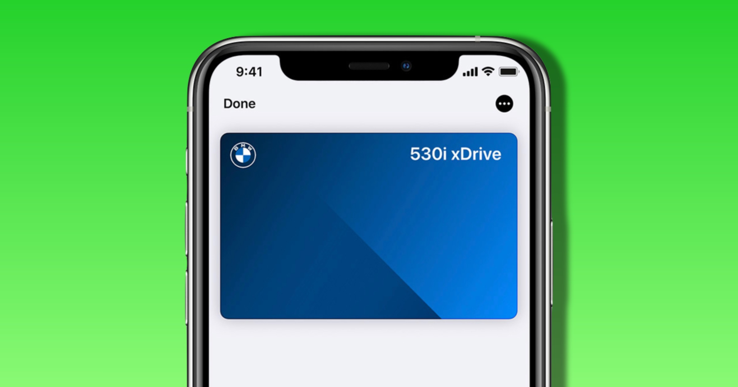 Apple car key in wallet