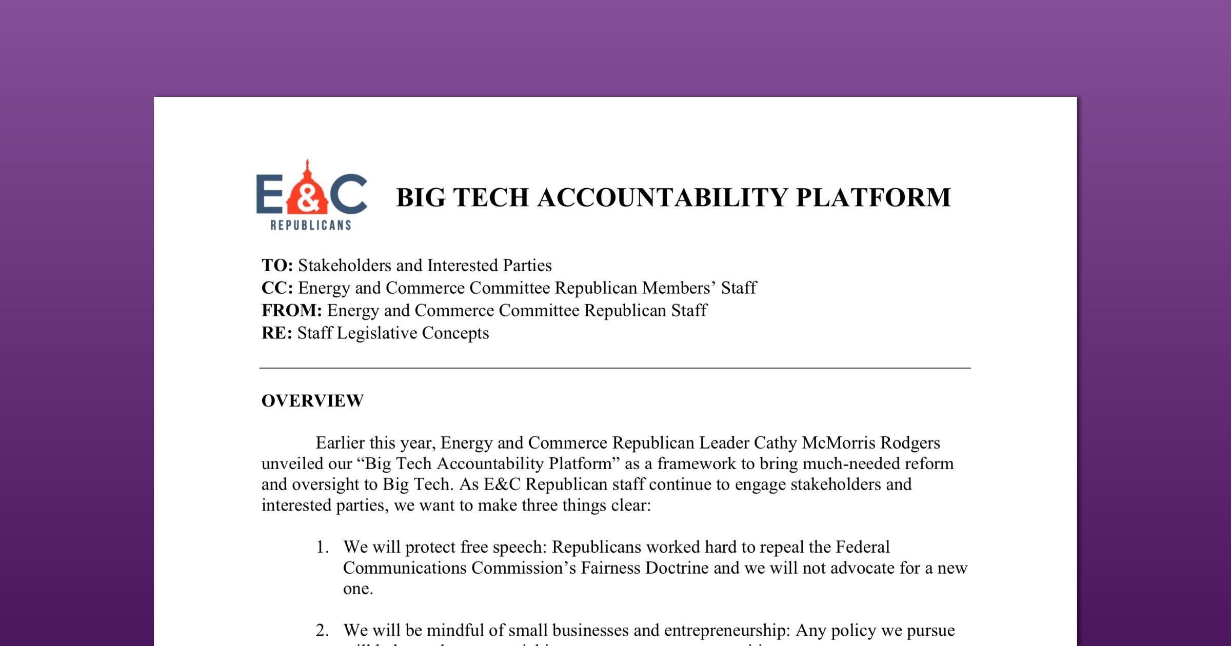 Big tech accountability platform