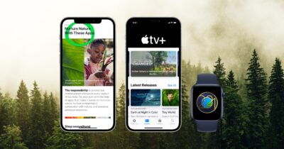 Earth Day 2021 with Apple products