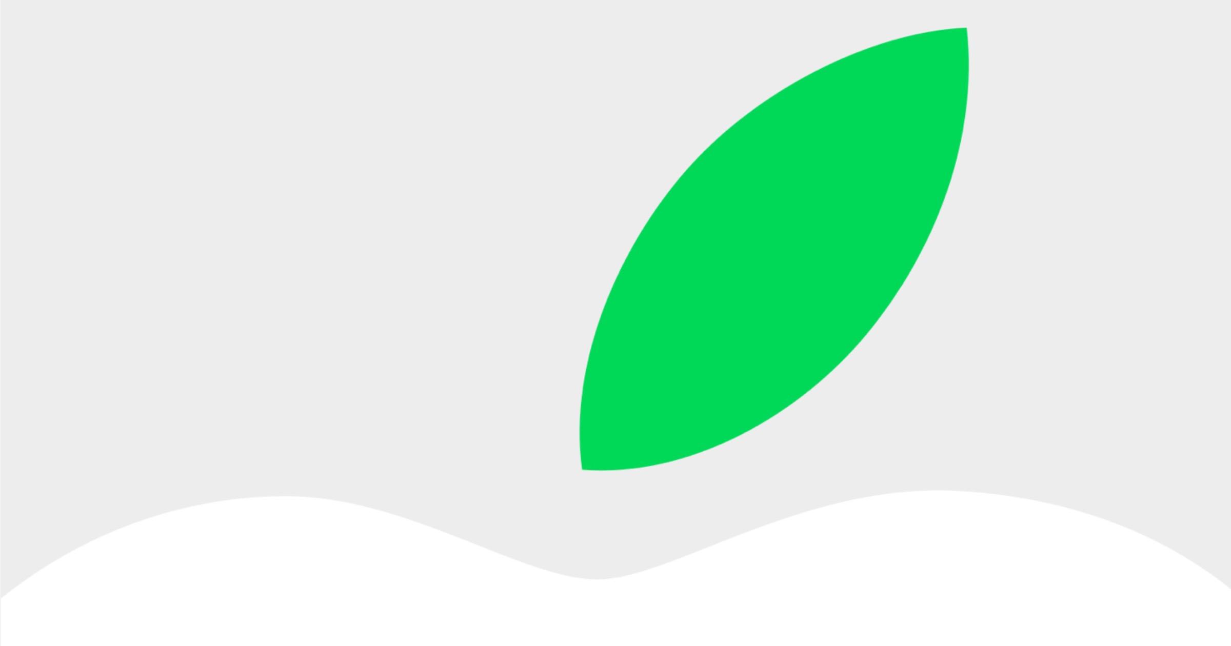 Earth day leaf apple logo