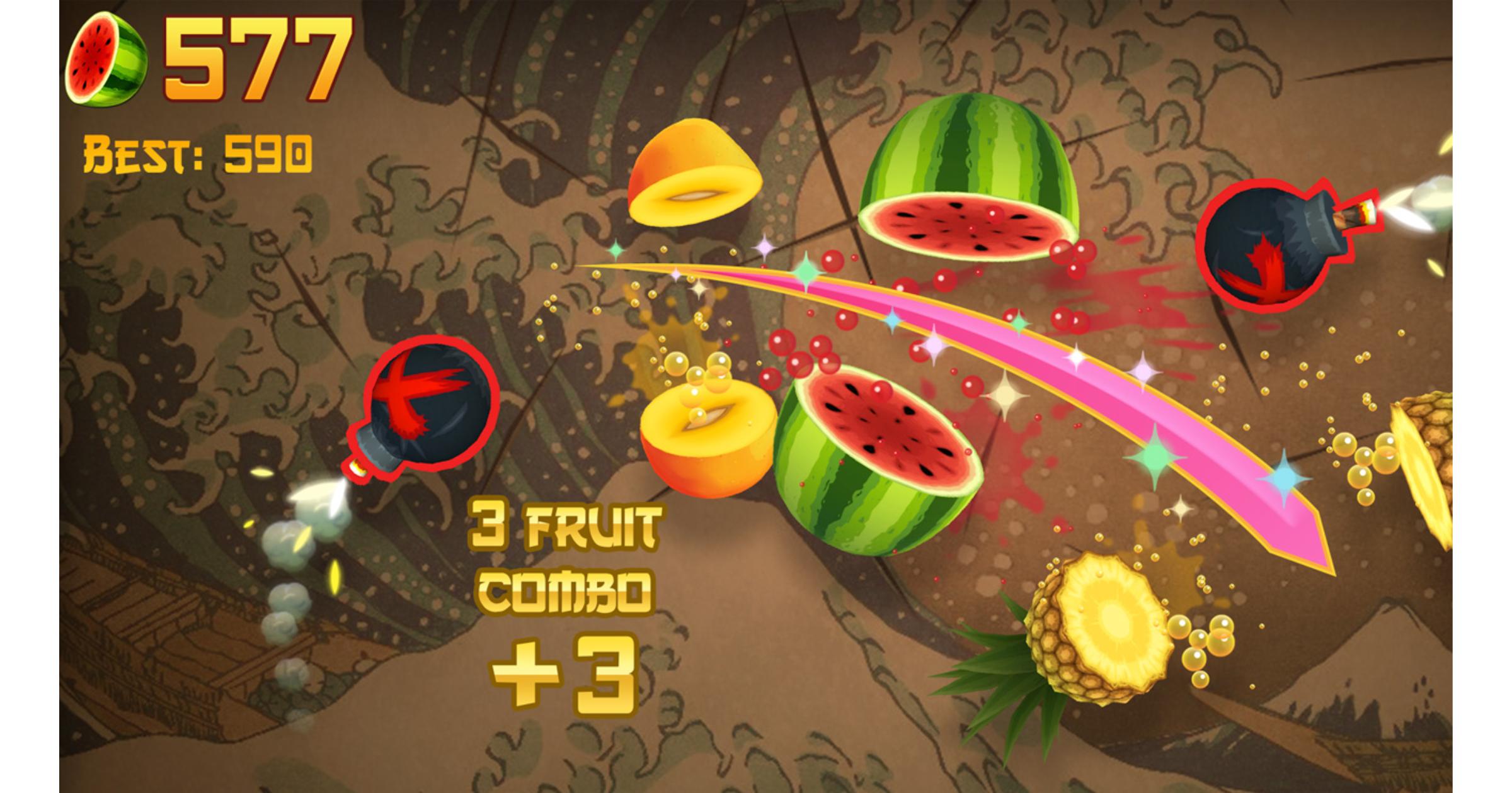 Fruit Ninja on Apple Arcade