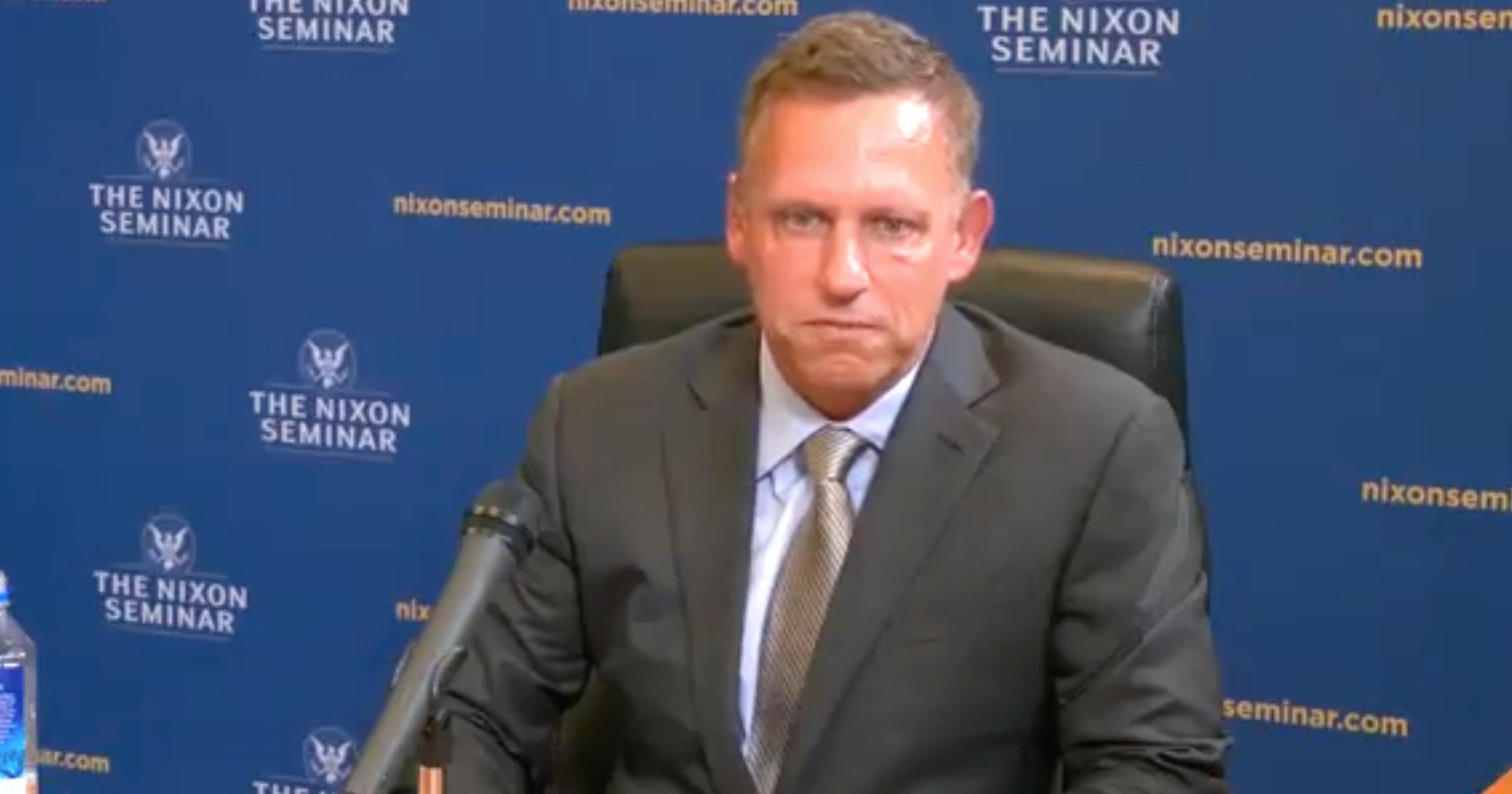 Peter Thiel at Richard Nixon Foundation