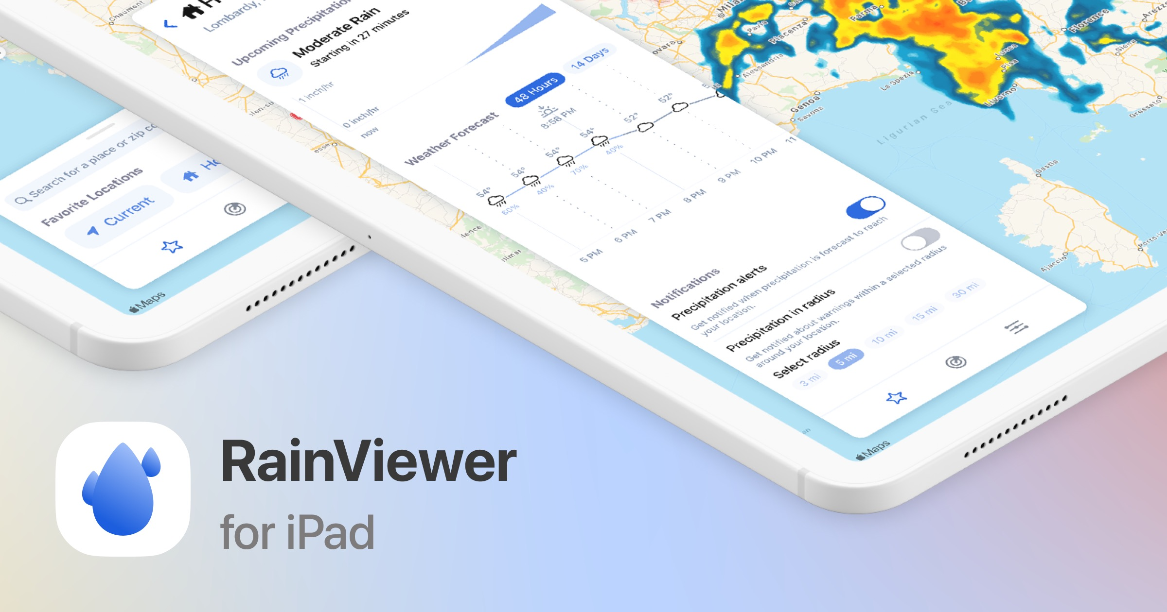 The RainViewer Weather App is Now a Full iPad App With Widgets