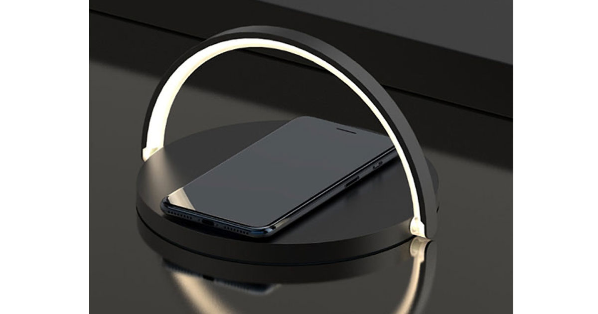 Moonlit Soft Glow LED Light, Wireless Charger & Stand