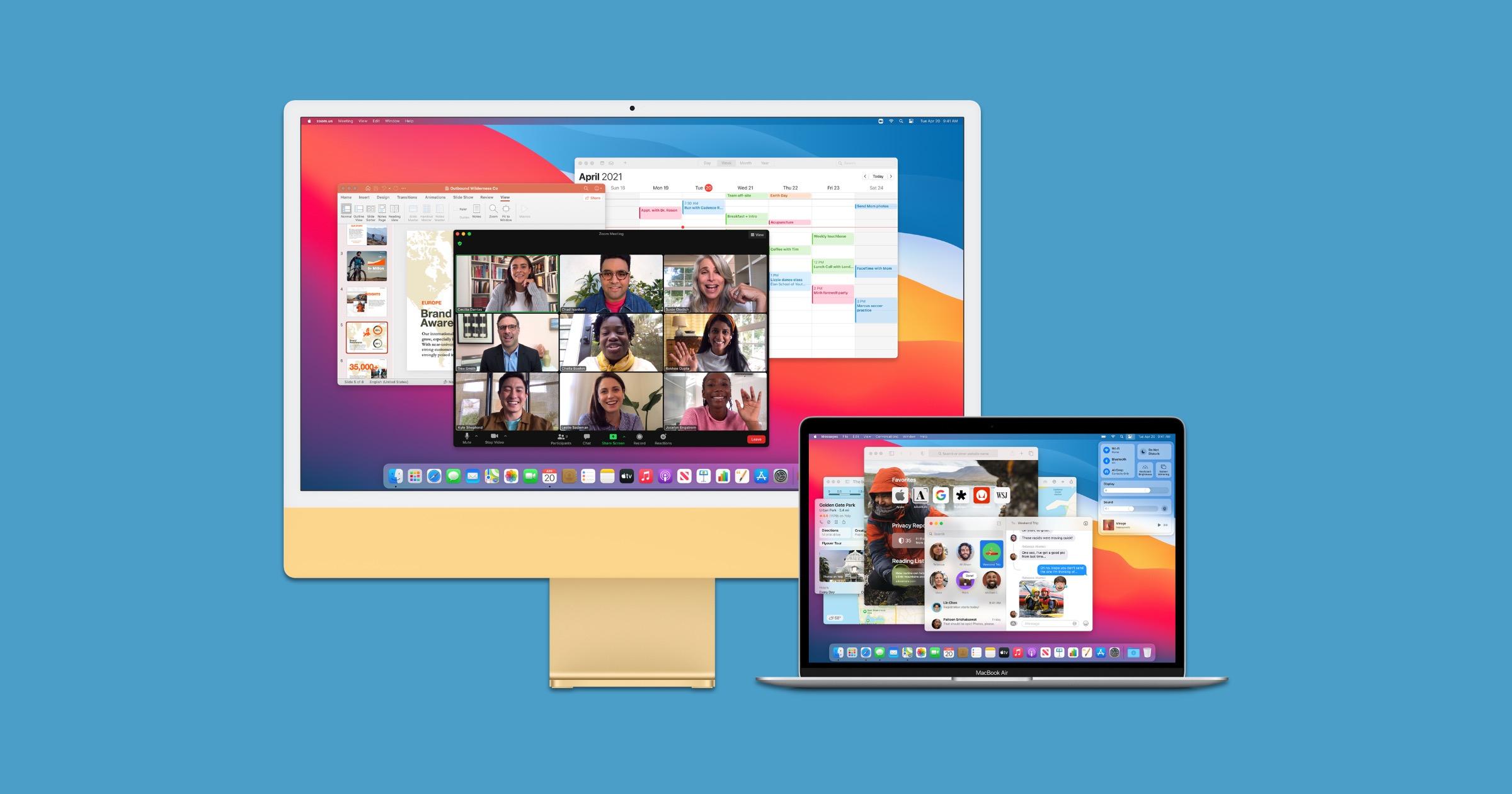 2021 iMac and MacBook Pro