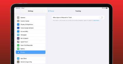 App tracking on iPad
