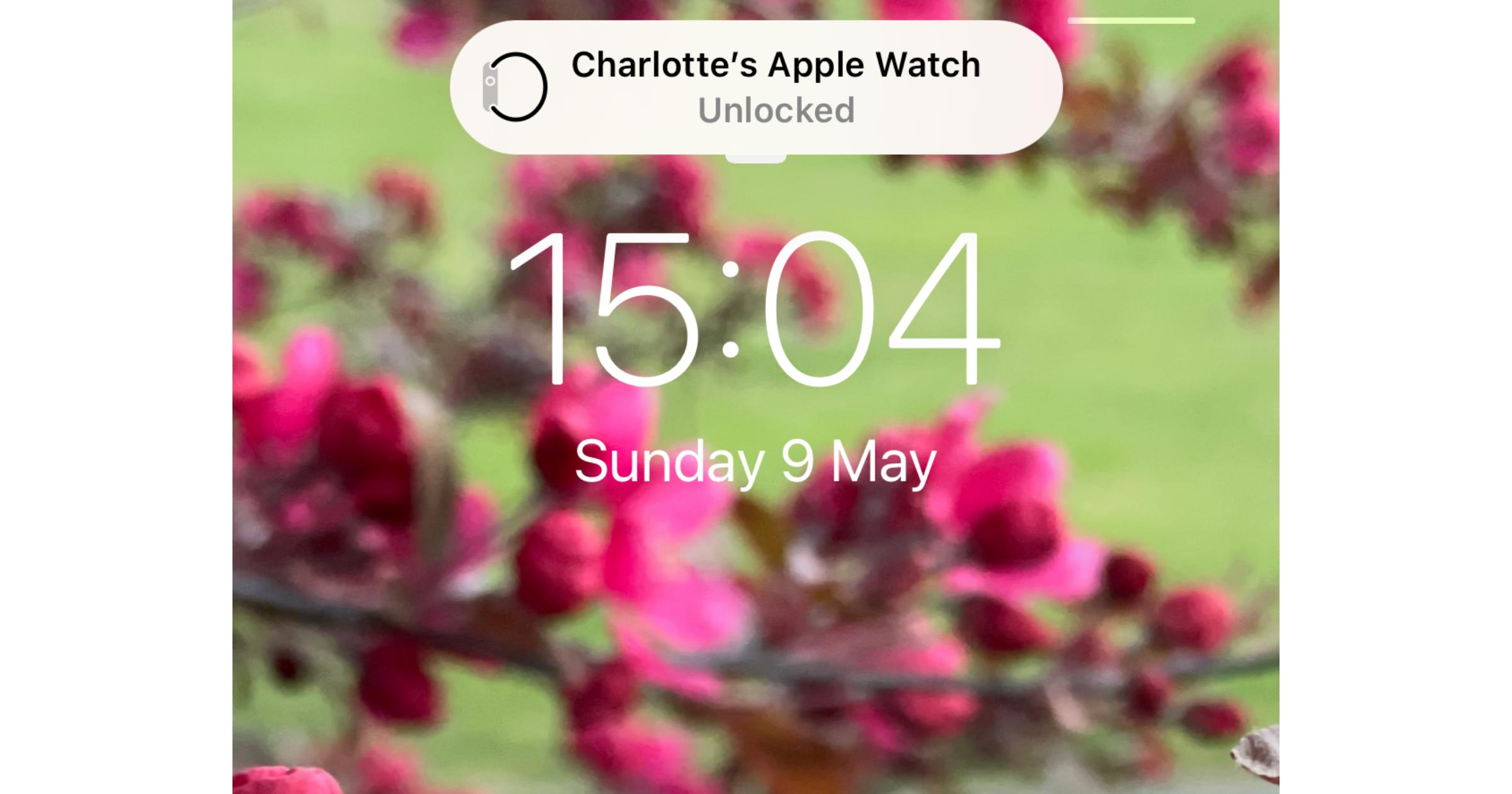 Apple Watch unlocked notification