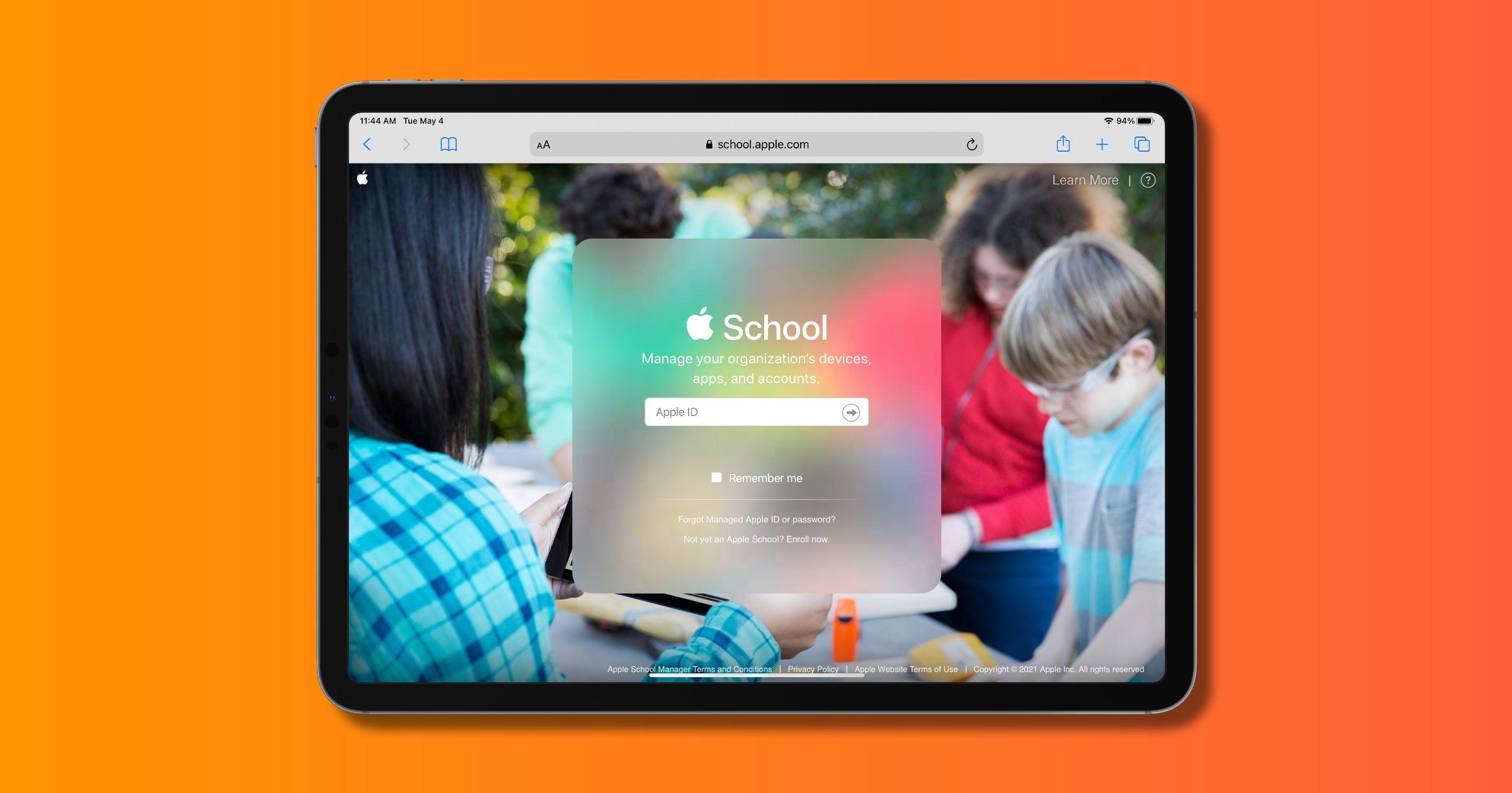 Apple school manager website