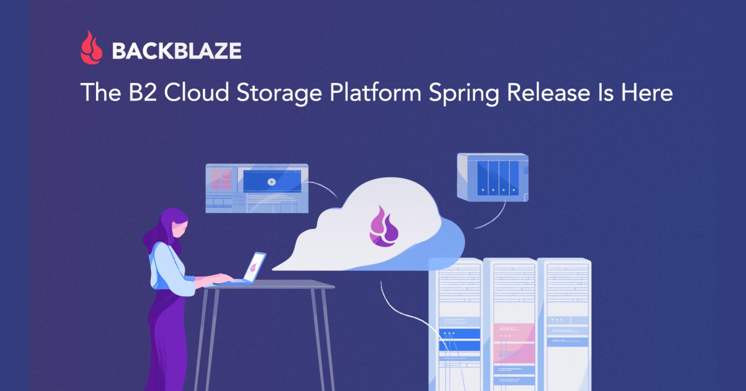 Backblaze B2 cloud storage platform spring release 2021