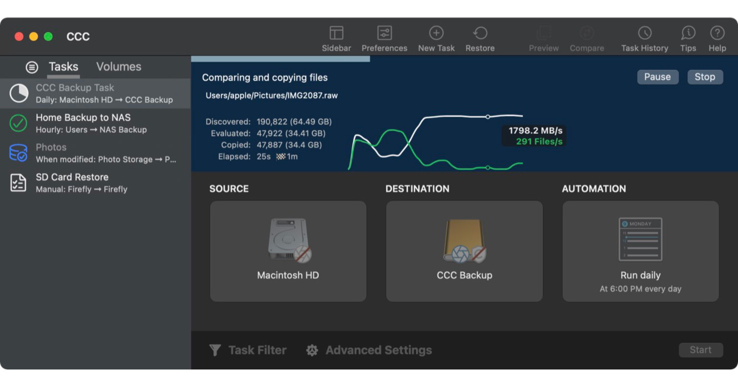 Bombich Software Releases Carbon Copy Cloner 6